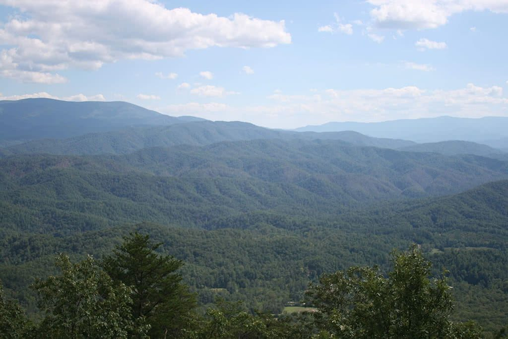 Smoky Mountains view from Look Rock Tower