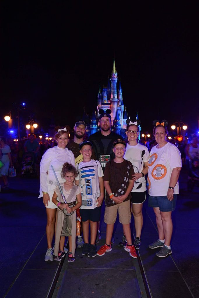 Mickey's Not So Scary Halloween Party Disney World Family Picture