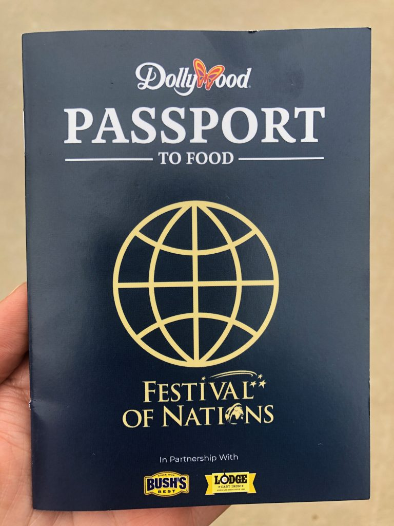 dollywood Festival of Nations passport book