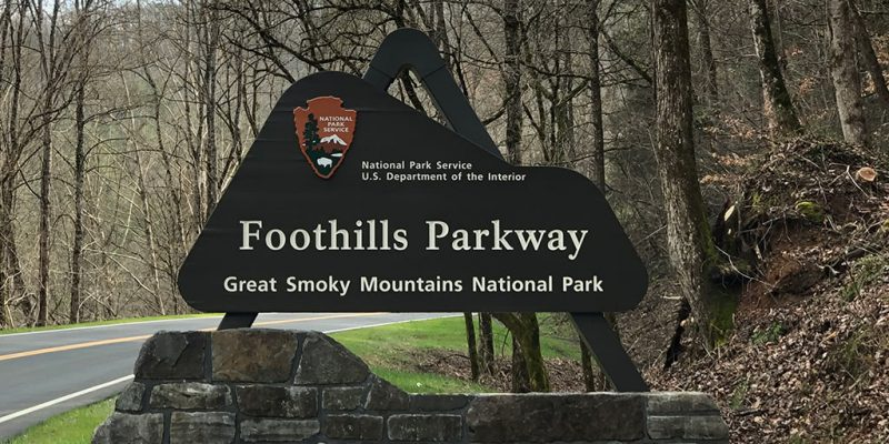 Foothills Parkway Missing Link National Park Sign