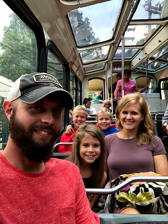 Lookout Mountain Incline Railway  On the Tram