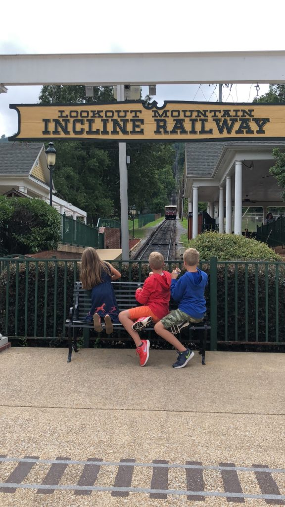 Lookout Mountain Incline Railway  Kids Watching