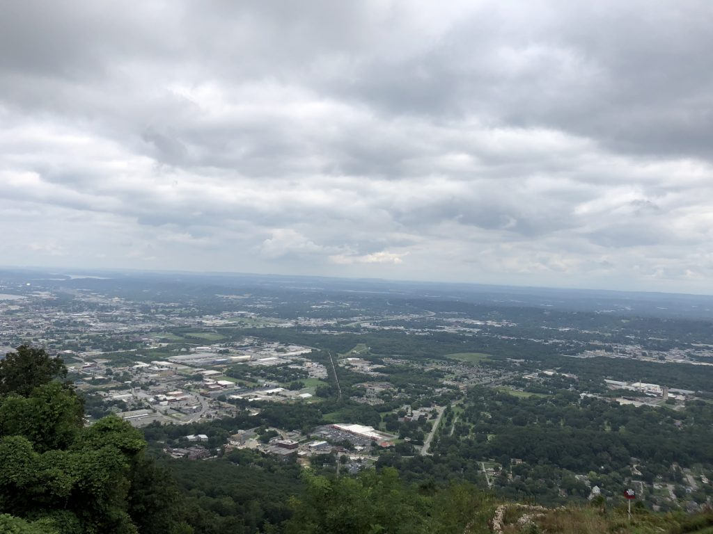 Lookout Mountain Incline Railway  View of Chattanooga