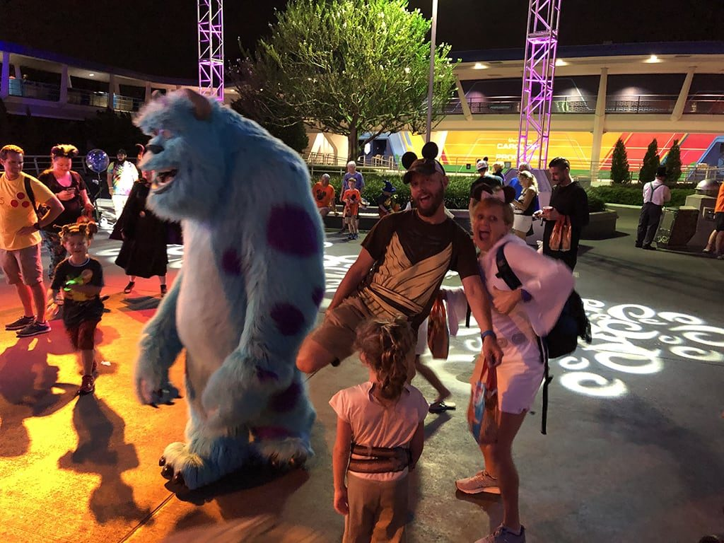 Mickey's Not So Scary Halloween Party Disney World Dance Party with Sully
