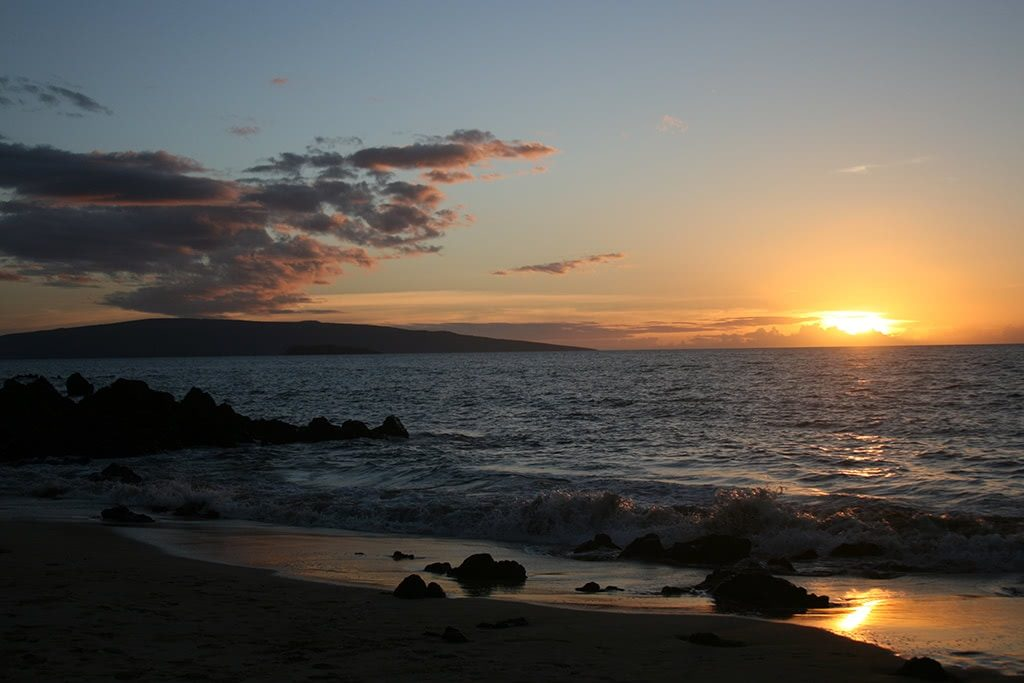 Seaside Maui Sunset