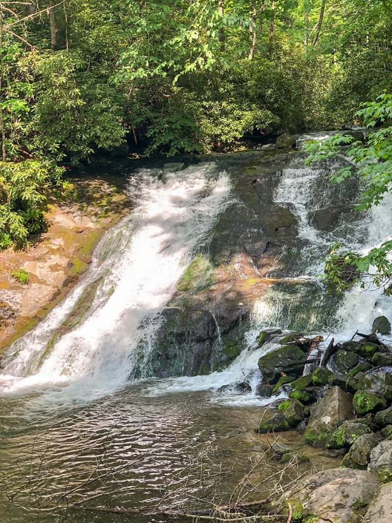 Indian Creek Falls on the Deep Creek Waterfalls Hike
