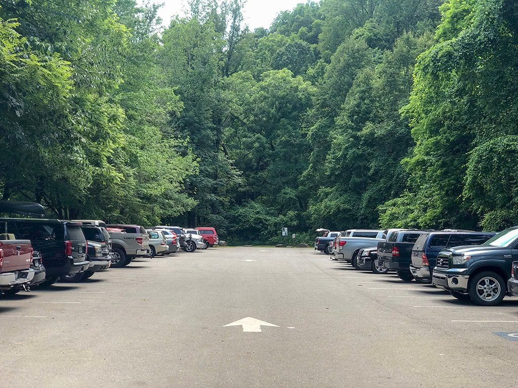 Deep Creek Waterfalls parking area
