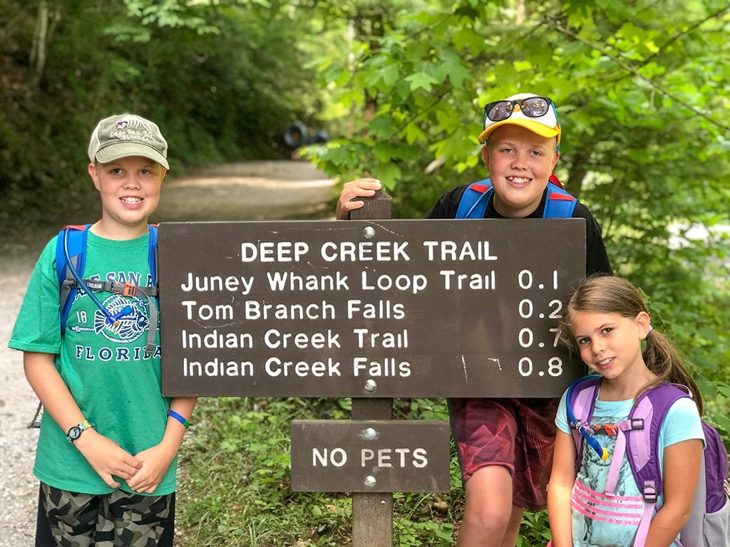 Deep Creek Waterfalls Trail Sign