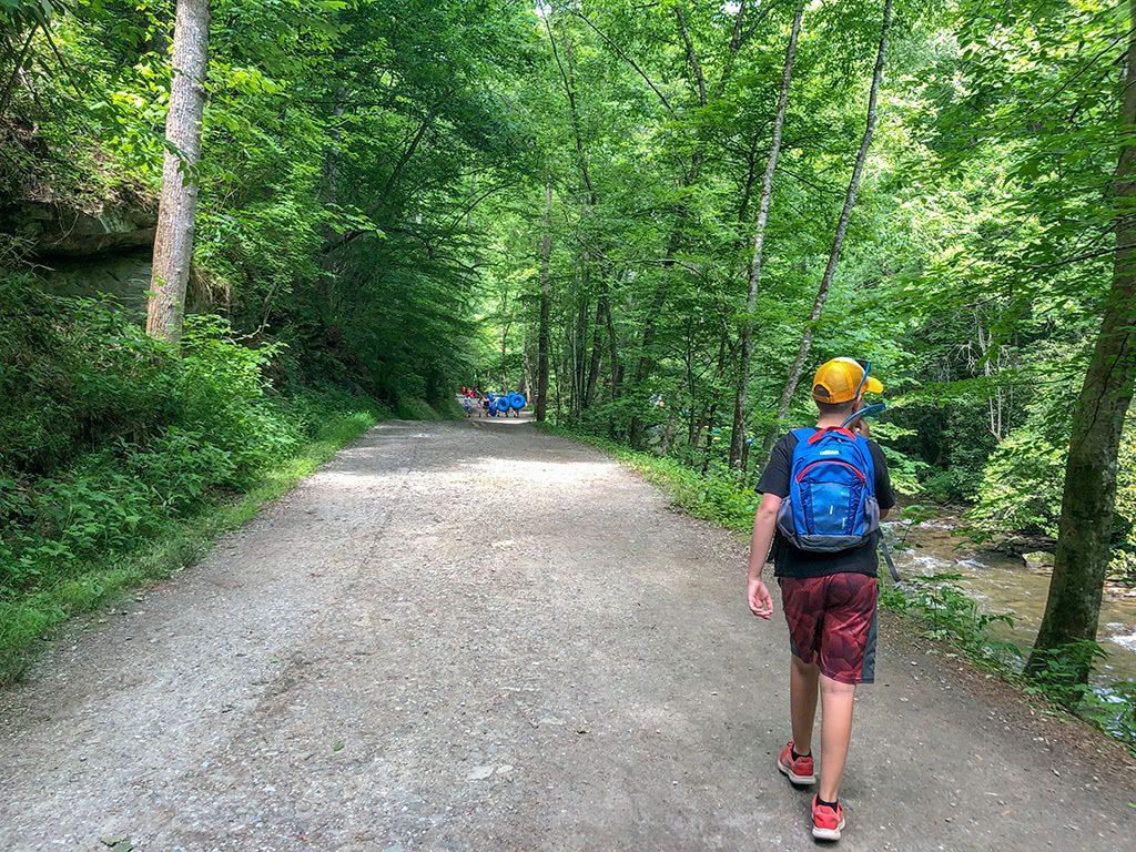 On the Deep Creek Waterfalls Trail