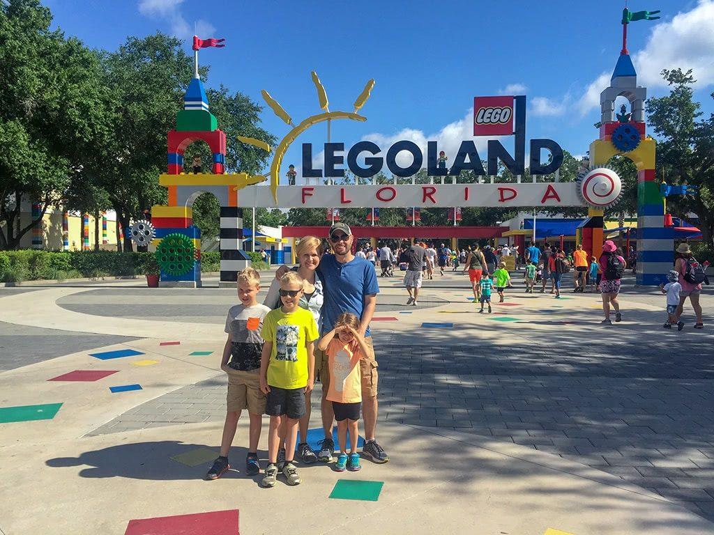 LEGOLAND Florida Tips Legoland-Family-Pic-at-sign