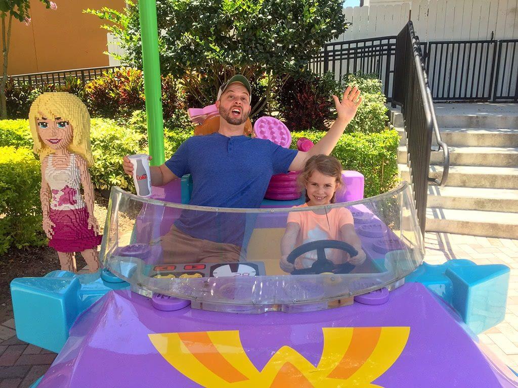 LEGOLAND Florida Tips Legoland-Heartlake-City-Maggie-driving-Matt