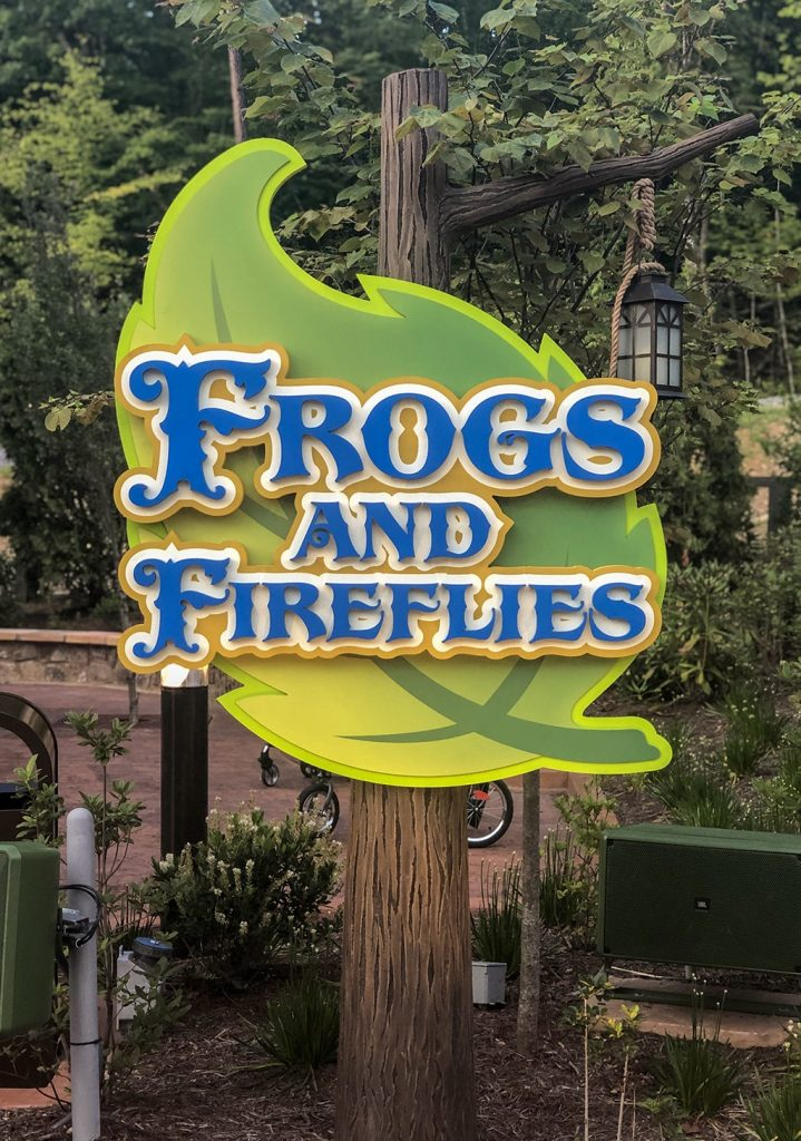 Frog and Fireflies at Dollywood Wildwood Grove
