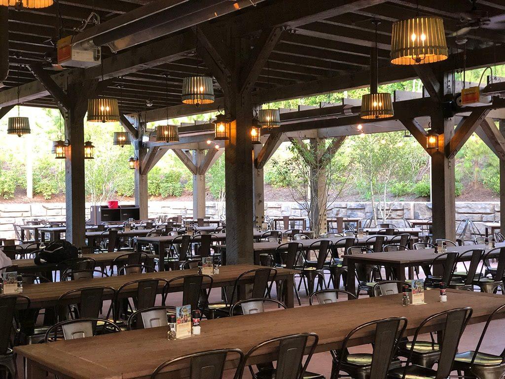 Till & Harvest Restaurant at Dollywood Wildwood Grove Outdoor Seating at Till & Harvest
