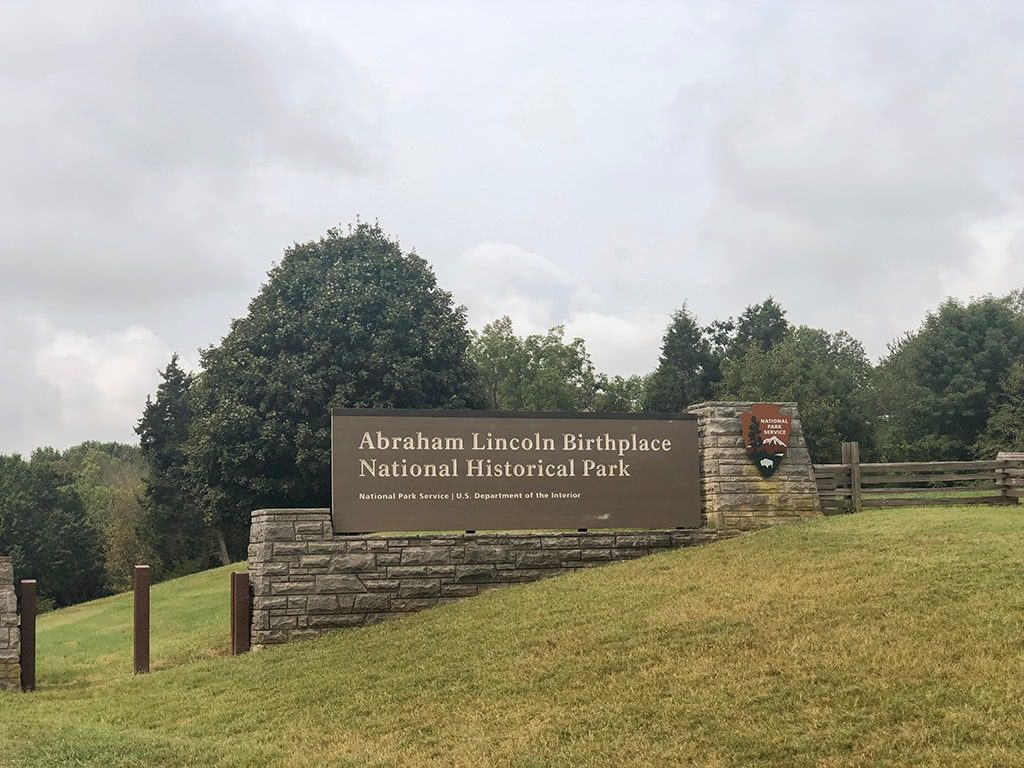 Abraham Lincoln Birthplace National Historic Park Sign