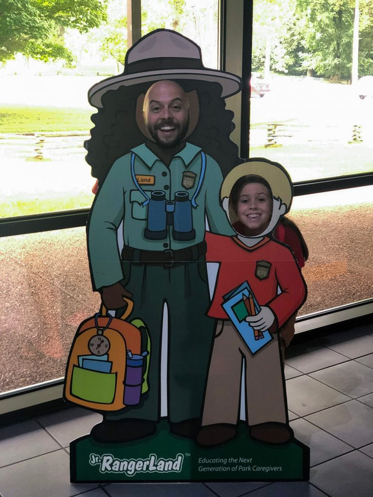 Abraham Lincoln Birthplace National Historic Park Visitor Center Face Cut Outs