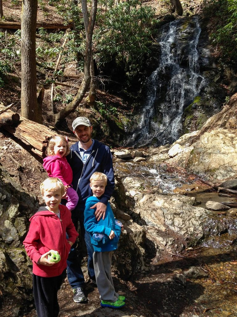 Cataract Falls Smoky Mountains Family Picture