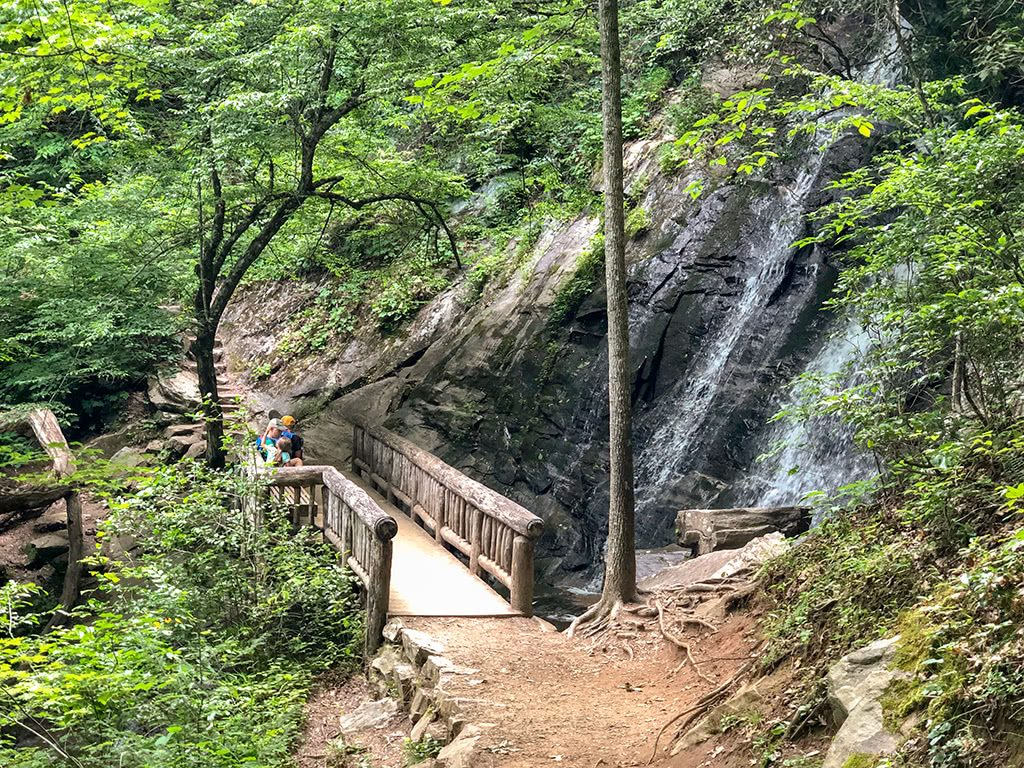 Juney Whank Falls is one of the Deep Creek Waterfalls
