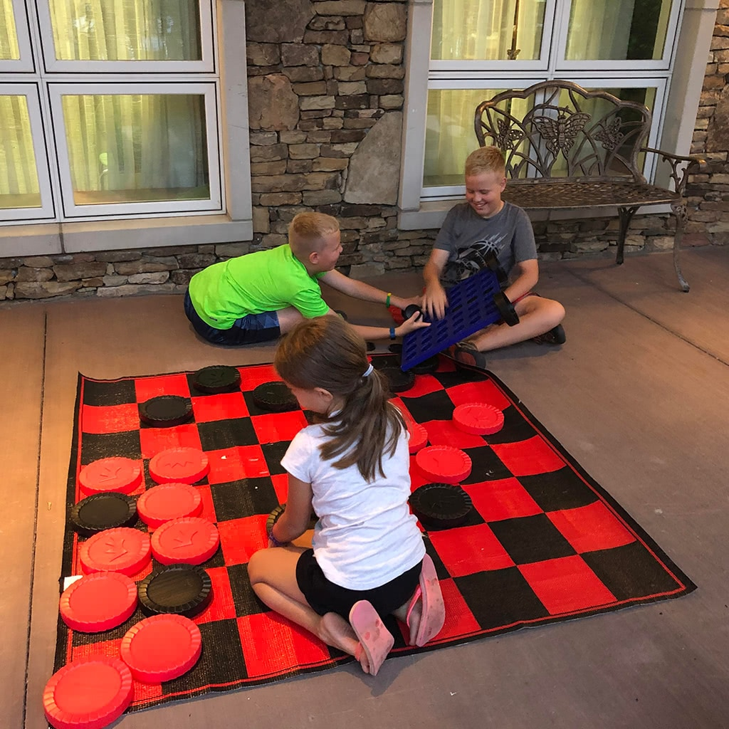 Dollywood's DreamMore Resort Life Size Checkers