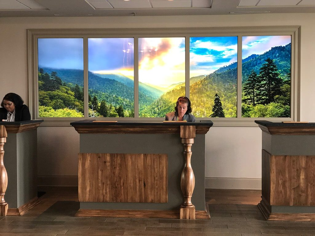 Front Desk Mountains