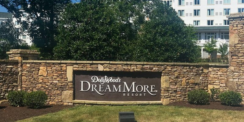Dollywood's Dreammore Resort Entrance