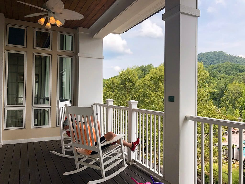 Dollywood's DreamMore Resort Porch