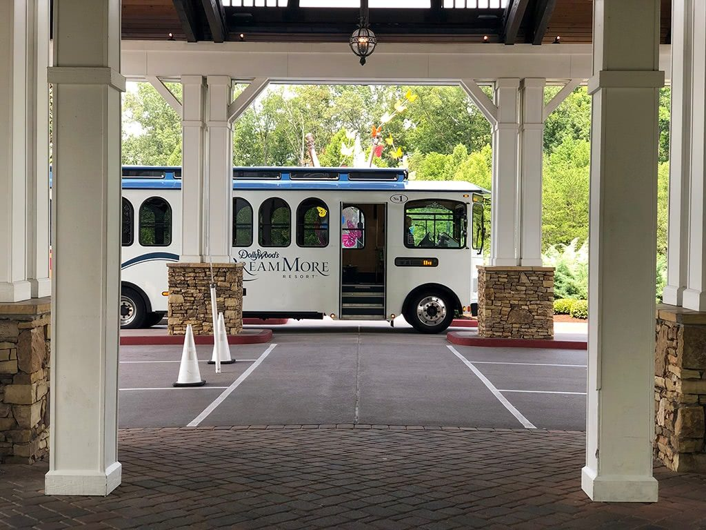 Dollywood's DreamMore Resort Trolley