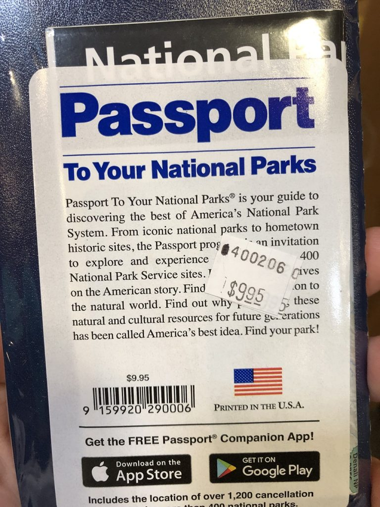 Cost for the National Park Passport Classic Edition