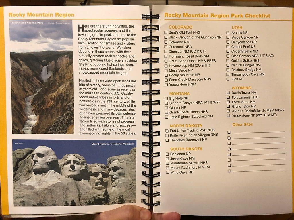 National Park Passport Collectors Edition Inside