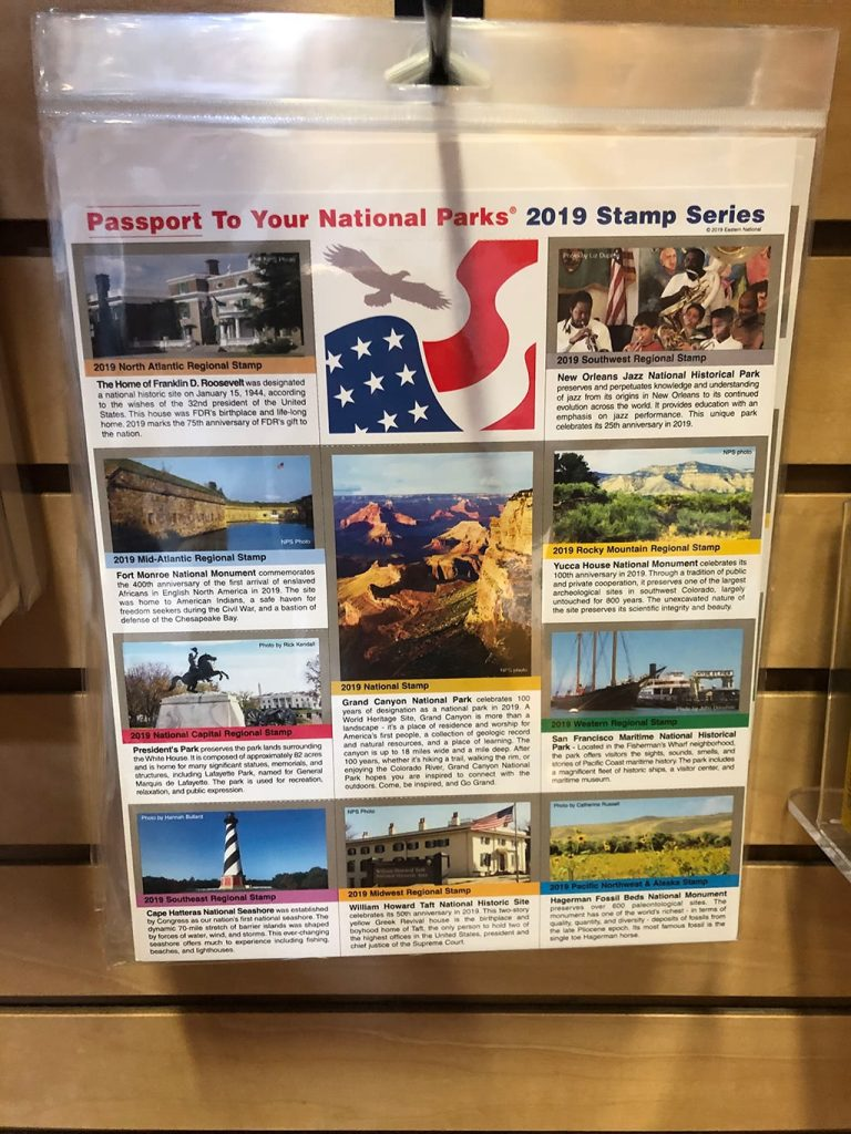 Stamps Series for the National Park Passport
