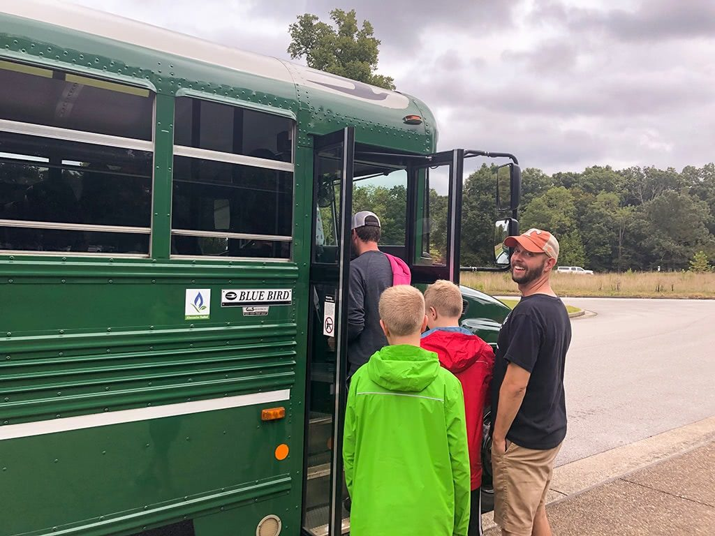 Mammoth Cave National Park Tour Loading the Buses