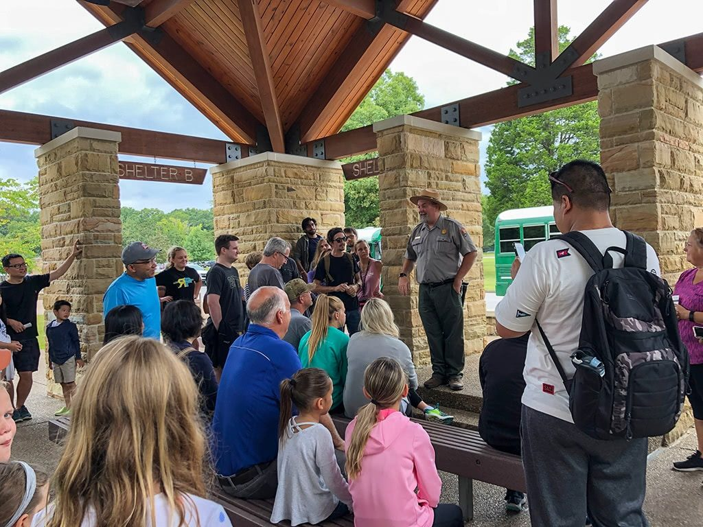 Mammoth Cave National Park Tour Shelter talk with Ranger