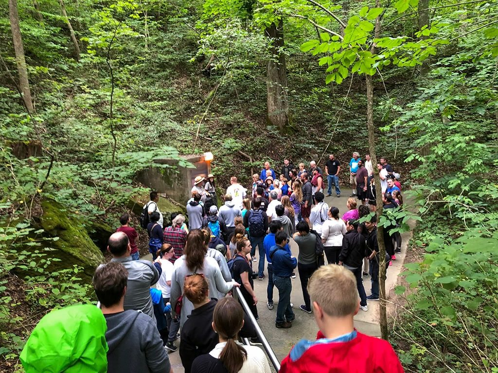 Mammoth Cave National Park Tour Walking Down 2