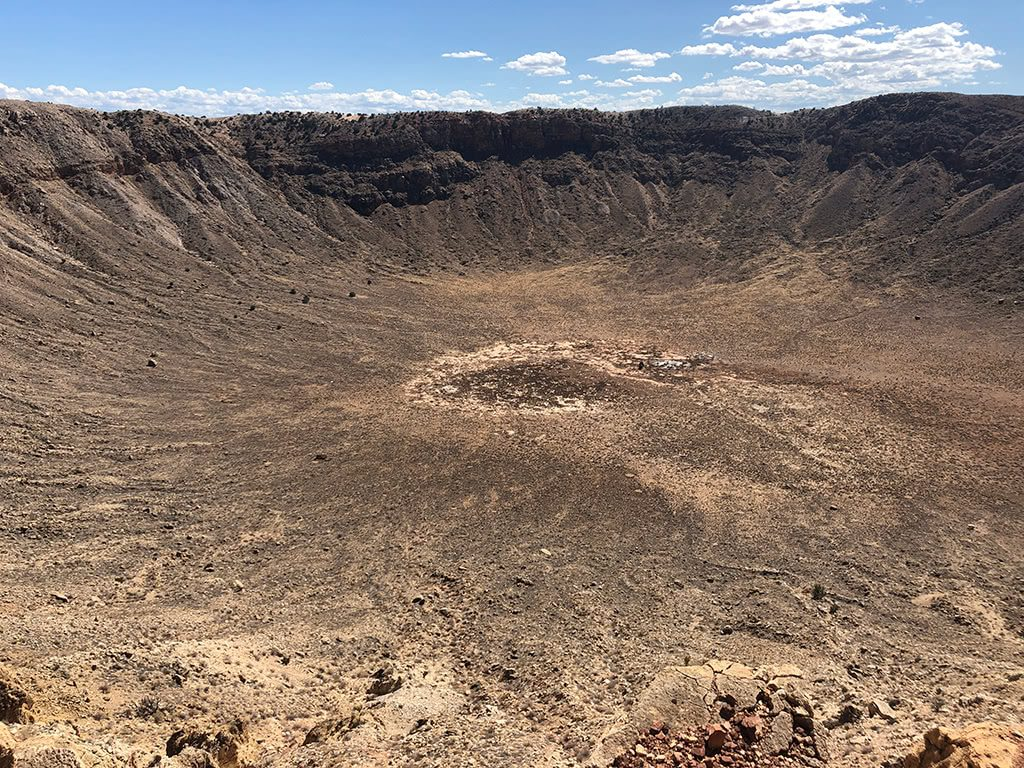 View of the Meteor Crater Depth