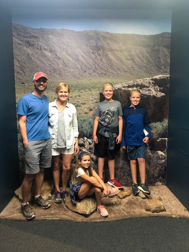 Meteor Crater in Arizona Museum Family Picture