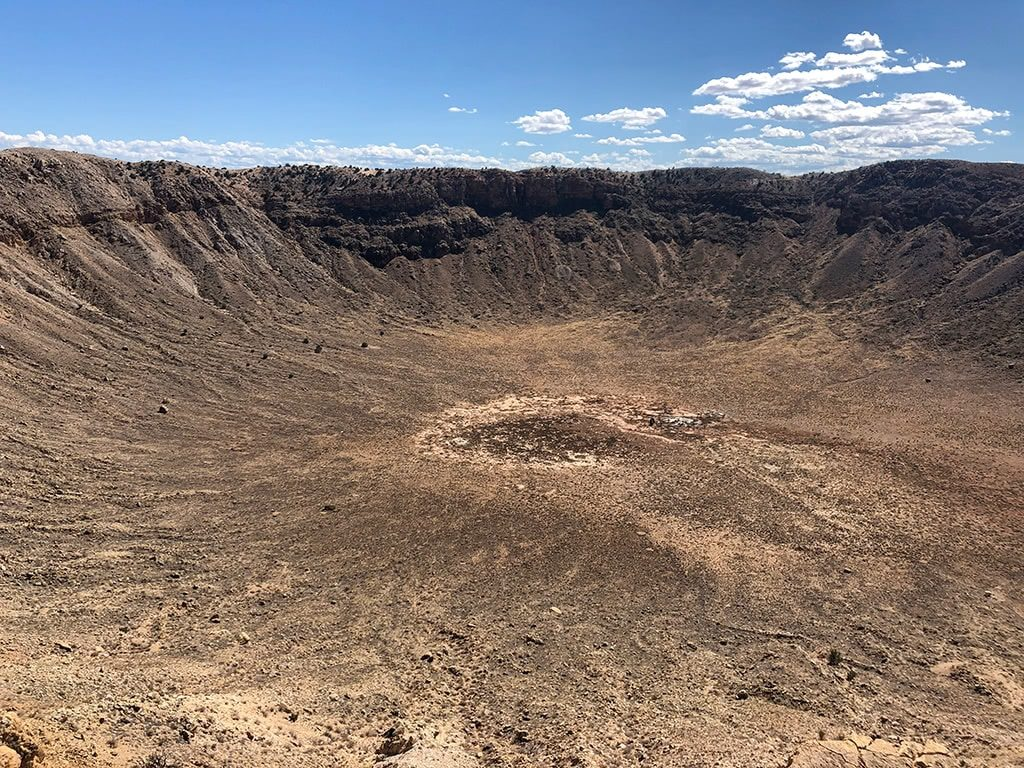 Inside of the Meteor Crater