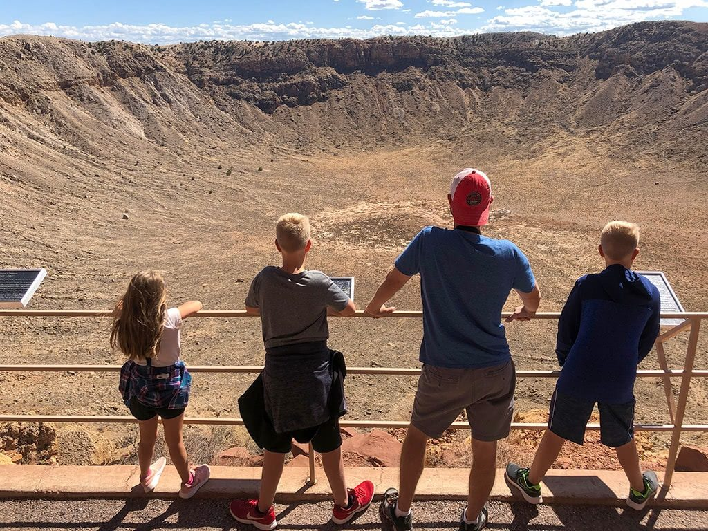 Taking in a Look at the Meteor Crater