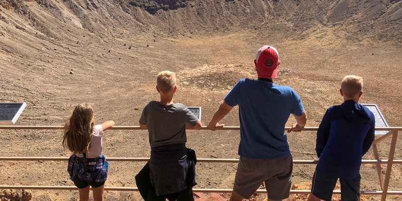 Meteor Crater in Arizona Viewing outside