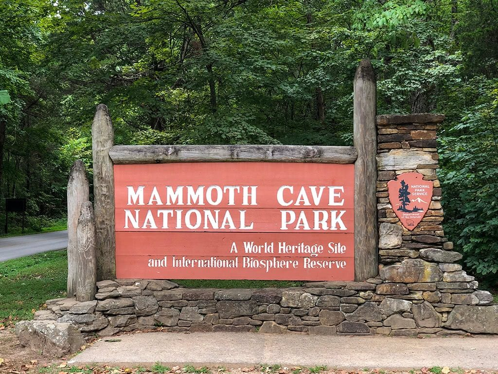 Mammoth Cave National Park Sign