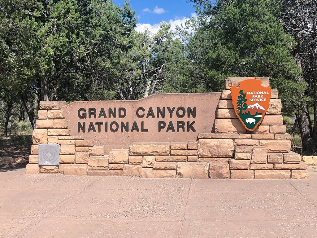 South Rim Grand Canyon National Park Sign
