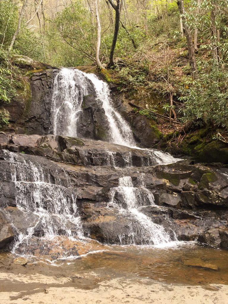Laurel Falls with Less Rainfall