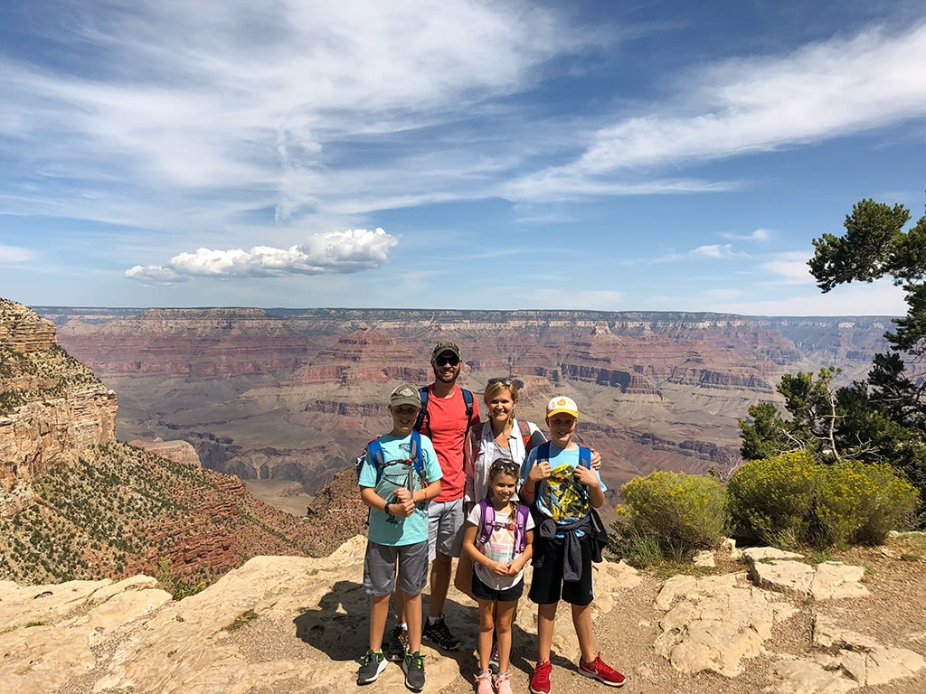 Family Picture on Rim Trail