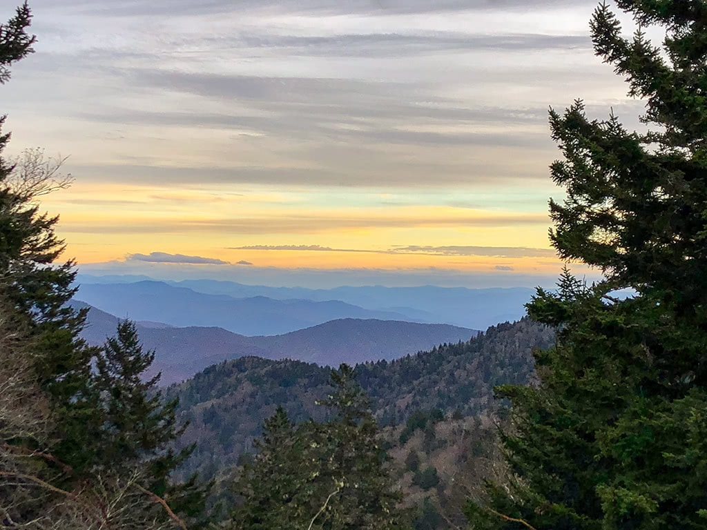 scenic drives in the smoky mountains clingmans dome view