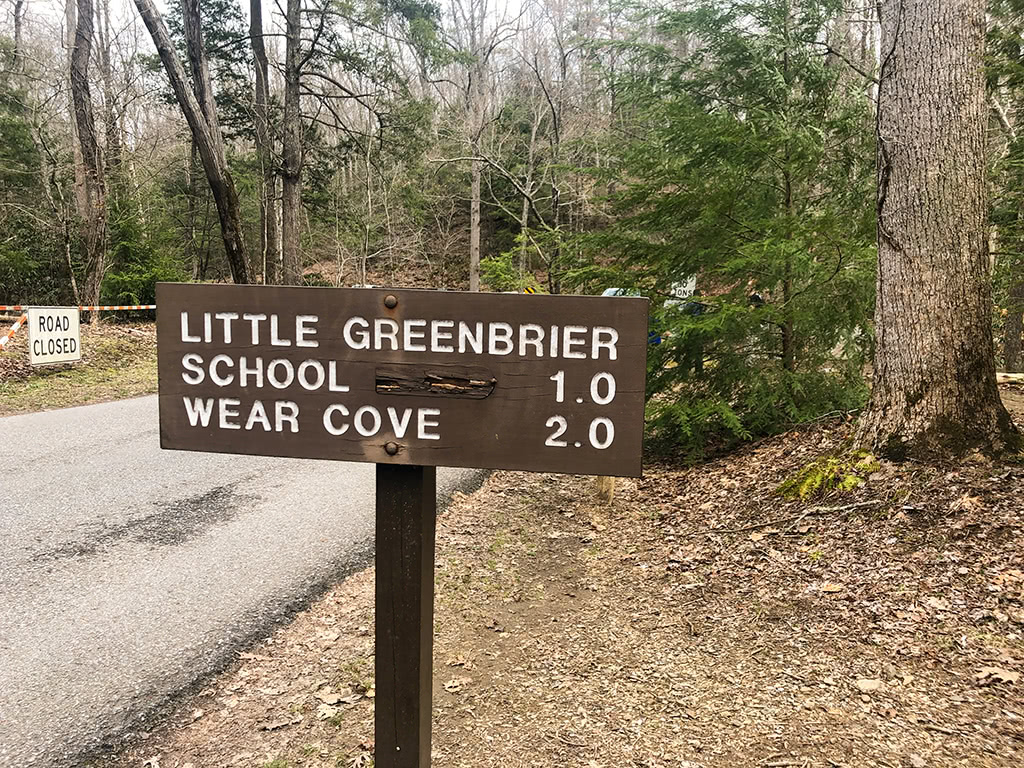 Sign at Metcalf Bottoms Trail head to get to school
