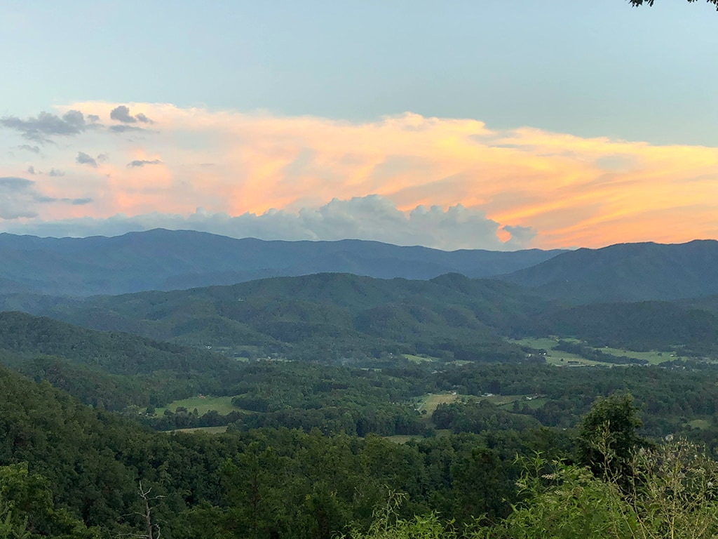 Watch a sunset on the Foothills Parkway Missing Link