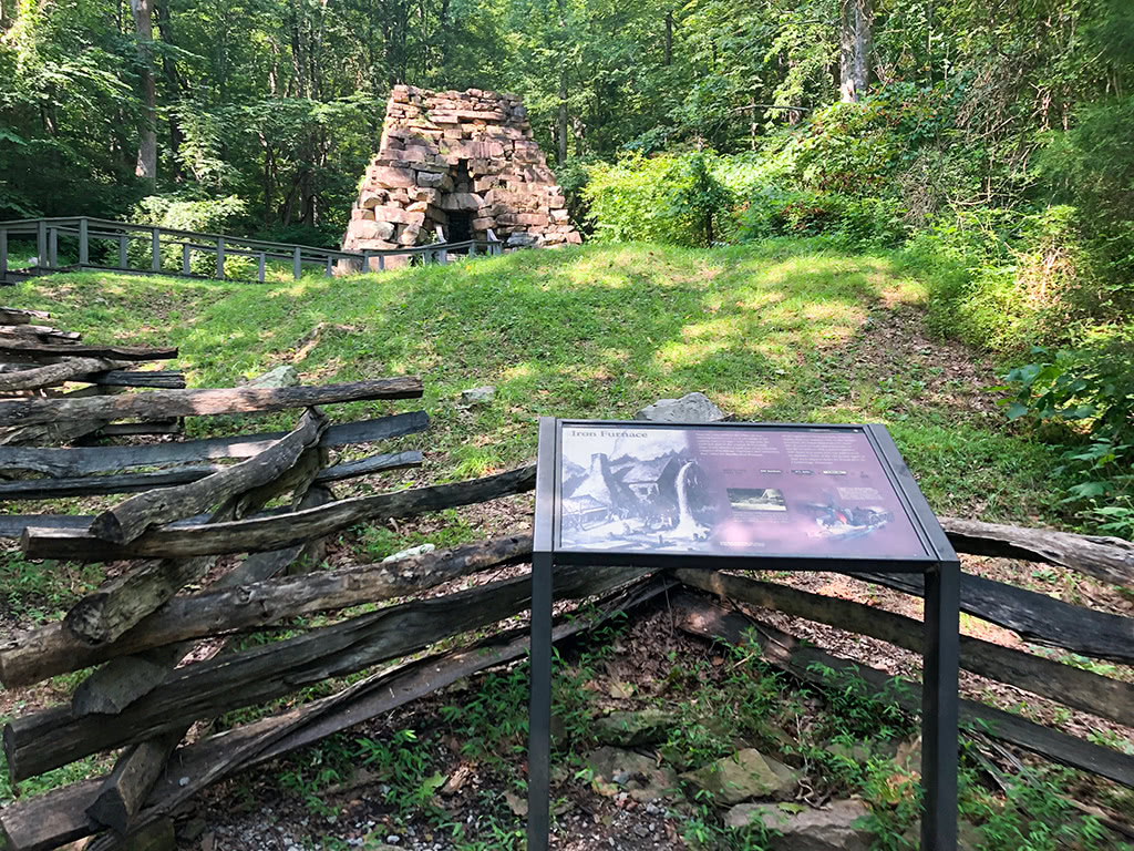 View of Iron Furnace atCumberland Gap National Historical Park