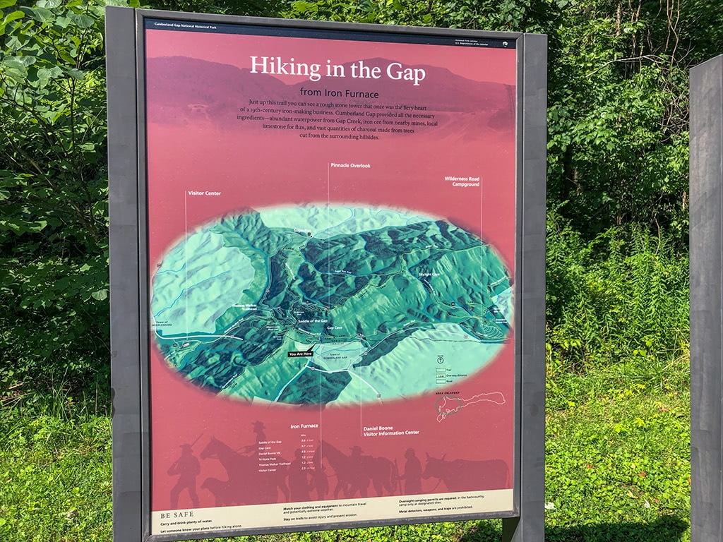 Hiking Sign at Cumberland Gap National Historical Park