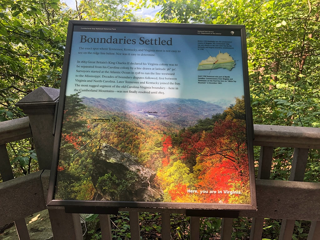 Cumberland Gap National Historical Park Info Sign