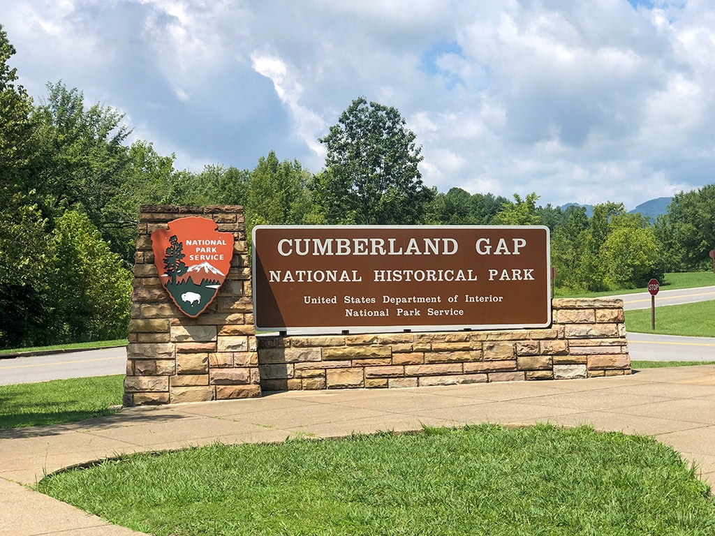 Cumberland Gap National Historical Park Sign