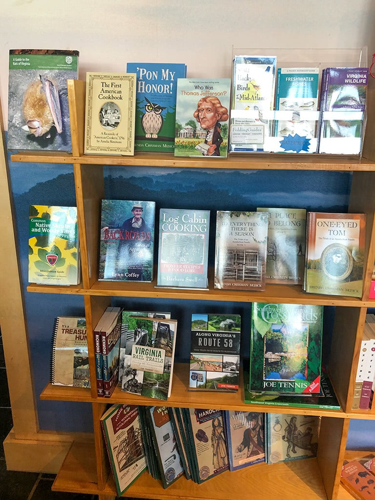 Wilderness Road State Park Books in Visitor Center