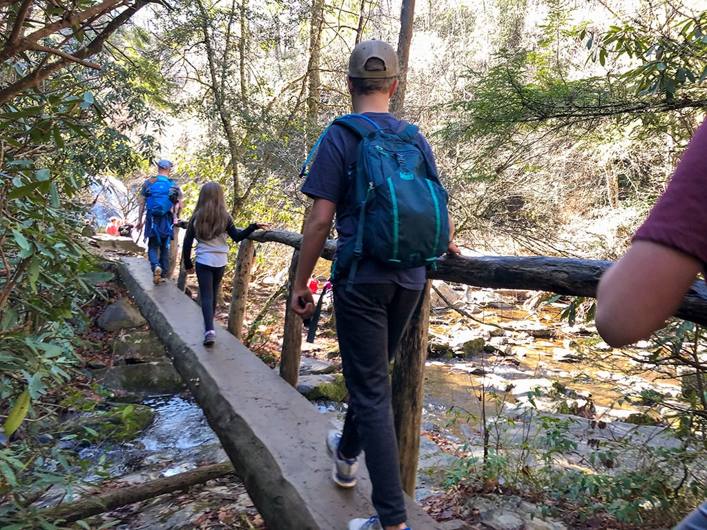 Abrams Falls Trail - Last and Final footbridge